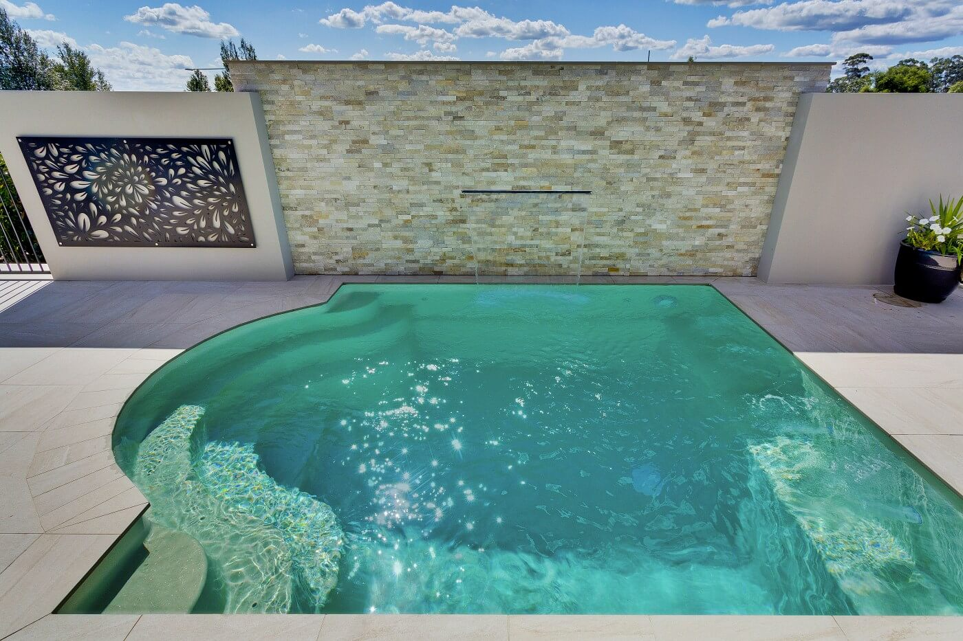 Plunge And Courtyard Pool Compass Pools Sydney