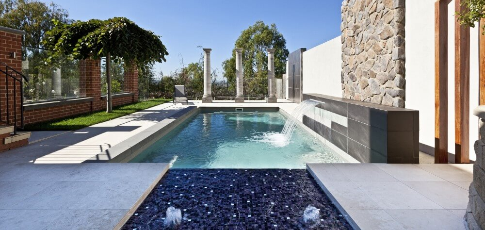Compass Pools Sydney Bubbler and water wall water features