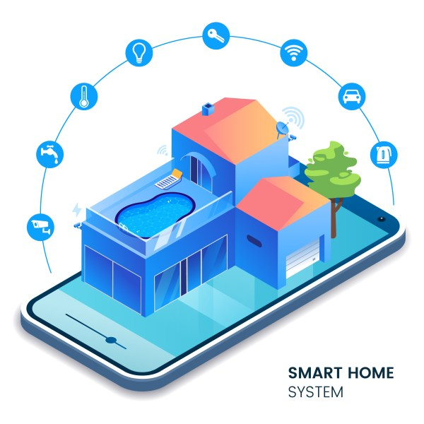 Smart pool as a part of smart home system